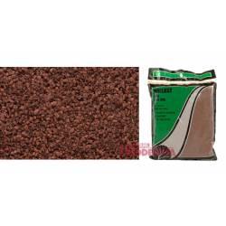 Bolsa de balasto o grava color hierro óxido, fino.