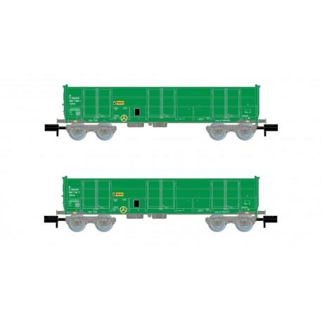 Ealos wagons, green version, RENFE