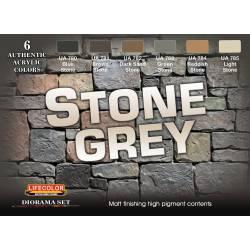 Set de pinturas gris piedra.