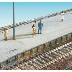 Platform edge with sleepers.