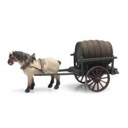 Beer wagon.