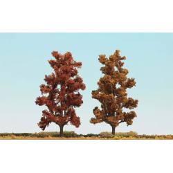 2 árboles árboles en otoño de 150 mm.