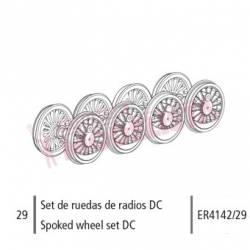 Spoked Wheel Set DC, Mikado. ER4142/29