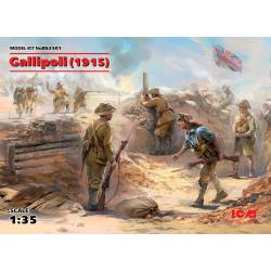 Batalla de Gallipoli, 1915.