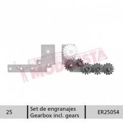 Plaqueta con engranaje para 252 de RENFE.