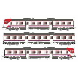 """3-unit DMU class 592 """"Cercanías"""", RENFE."""