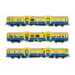 "Automotor diésel 592 ""azul/amarillo"", RENFE."