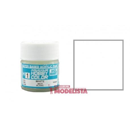 White 10 ml (gloss). Gunze Sangyo. HOBBY COLOR H001