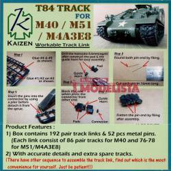 M40, M51 and M4A3E8, T84 Track.