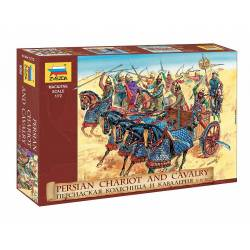 Persian chariot and cavalry.
