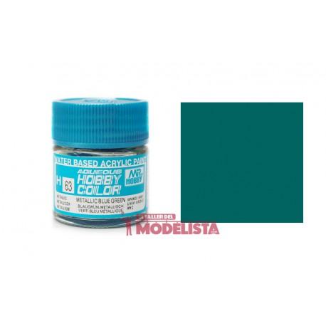 Verde azulado metálico 10 ml. Gunze Sangyo. HOBBY COLOR H063