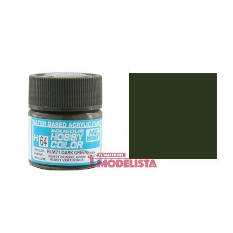 Verde oscuro RLM71 10 ml. Gunze Sangyo. HOBBY COLOR H064
