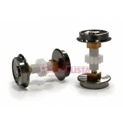 Axles without rubber tyres for 1400 CP (x2).