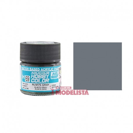 Gris RLM75 10 ml. Gunze Sangyo. HOBBY COLOR H069