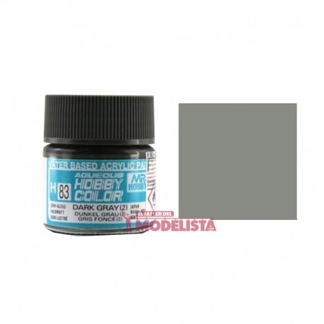 Gris oscuro J-II 10 ml. Gunze Sangyo. HOBBY COLOR H083