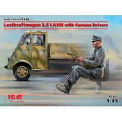 Lastkraftwagen 3,5 t AHN with drivers.