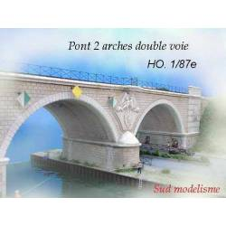 Puente de dos arcos. PN SUD MODELISME 8757
