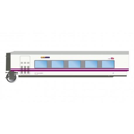 "Train ""Elipsos"" restaurant coach TC6, RENFE-SNCF."