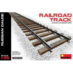 Railroad track.