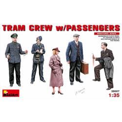 Tram crew and passengers.