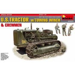 U.S. tractor with towing winch.