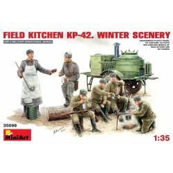 Cocina de campaña soviética KP-42.