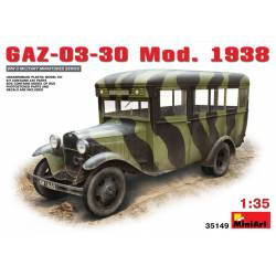 Autobus soviético GAZ-03-30. Mod. 1938.