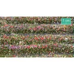 Tiras de flores multicolor.