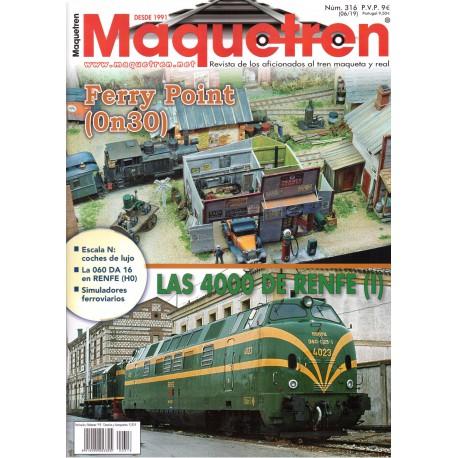 Revista Maquetren, nº 316.