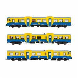 "3-unit DMU class 592 ""blue/yellow"", RENFE. Digital."