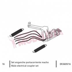 Male electrical coupler set, RENFE 470.