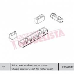 Set accesorios chasis coche motor, RENFE 470.