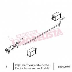 Electric boxes and roof cable, RENFE 470.
