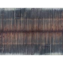 Sheet, timber wall.