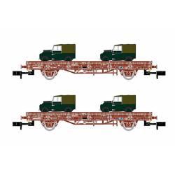 """Set de dos vagones Ks """"Land Rover"""", RENFE."""