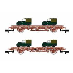 "Set of Ks wagons ""Land Rover"", RENFE."