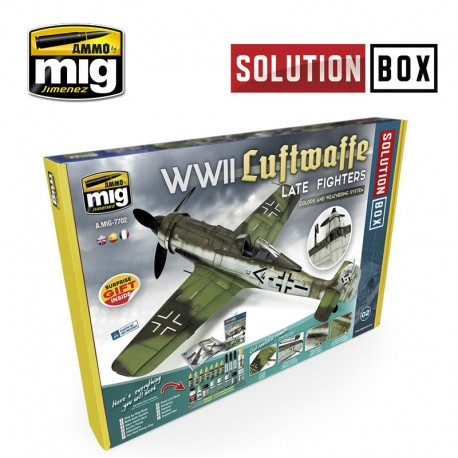 Solution box WWII Luftwaffe late fighters.
