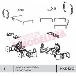 Buffer beam for RENFE 277.