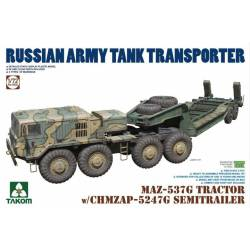 Vehículo para el transporte de tanques.