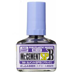 Plastic glue MR Cement.