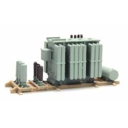 Carga: transformador eléctrico.