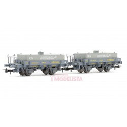 Set of wagons w/ water tanks, RENFE.
