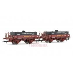 Set of wagons w/ water tanks, RENFE.