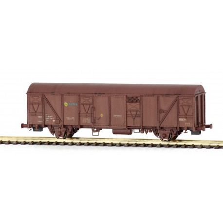Wagon Gbs 150 0 358-0, RENFE. Weathered.