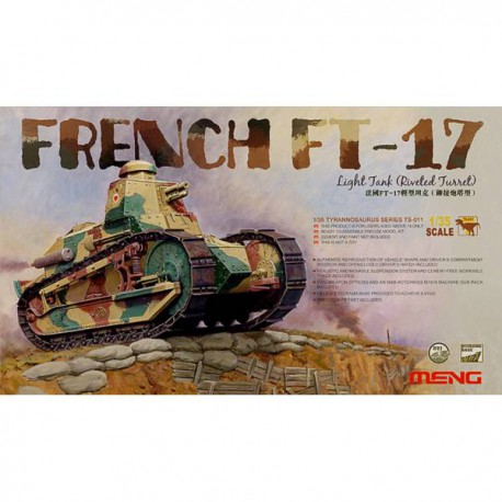Carro francés FT-17, torreta remachada.