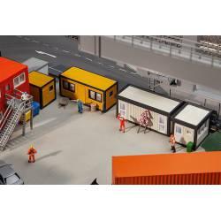 4 Building site containers, orange.
