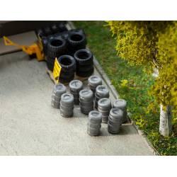 Aluminium beer barrels.