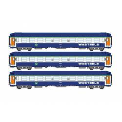 3-set of berth coaches UIC, WASTEELS.