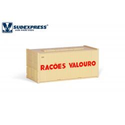 Contenedor de 20' RAÇOES VALOURO años 80.