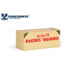 Contenedor de 20' RAÇOES AVIBOM VALOURO años 80-90.